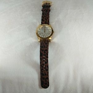 EUC Betsey Johnson Leopard printWatch